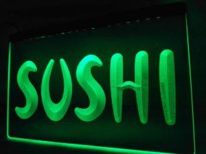 Sushi LED sign Sushi bar lighted door window display