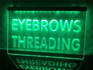 Eyebrows Threading light sign Beauty Salon led door Sign