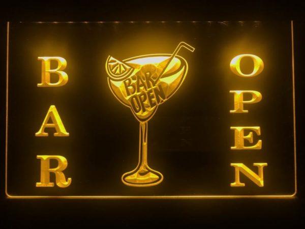 Open bar LED sign bar pub lighted entry display 4