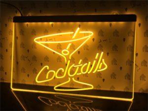 Cocktails Bar lighted sign bar pub LED door display 4