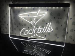 Cocktails Bar lighted sign bar pub LED door display 3
