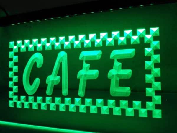Cafe LED open sign coffee shop bistro lighted door sign