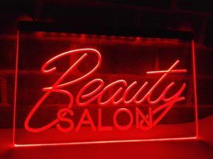 Beauty Salon open sign business LED light display 2