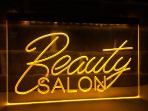 Beauty Salon open sign business LED light display
