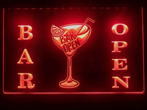 Open bar LED sign bar pub lighted entry display 2