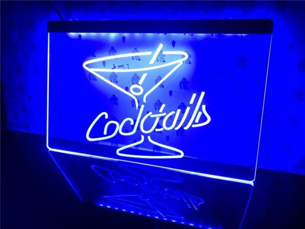 Cocktails Bar lighted sign bar pub LED door display 1