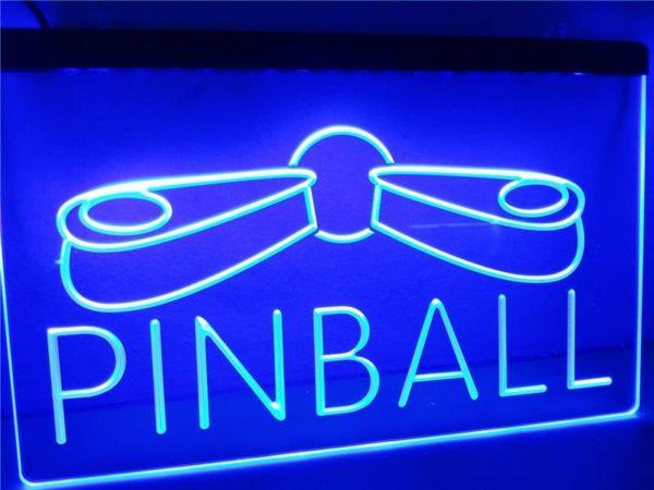 Pinball LED sign Game Room lighted wall hanging decor