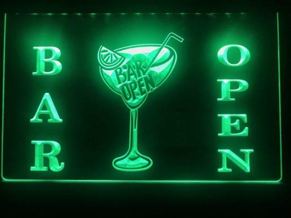 Open bar LED sign bar pub lighted entry display 1