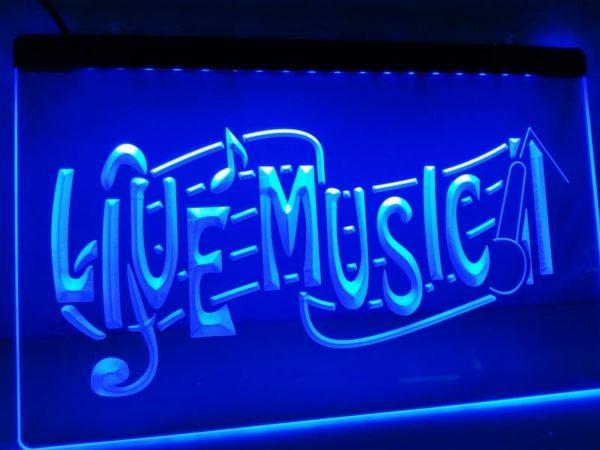 Live Music lighted sign music Bar pub restaurant LED door sign