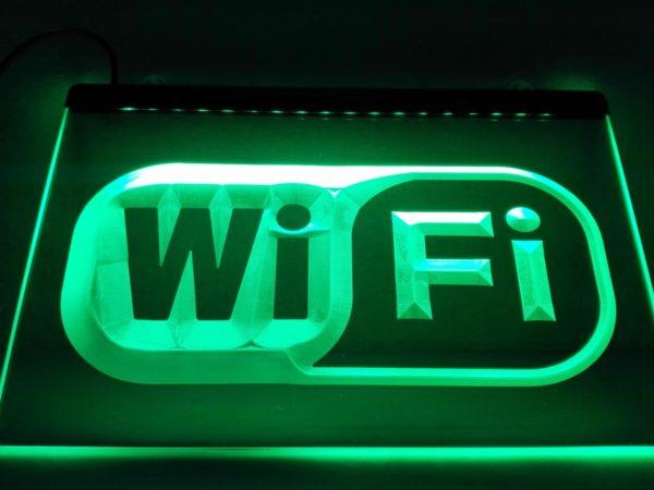 Free Wifi led sign cafe bistro restaurant free internet display