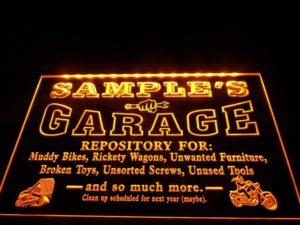 lighted-garage-signs
